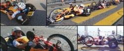 Circuito en la ribera del lago de Lugano, Suiza - Competición Europea de Handbike (EHC).